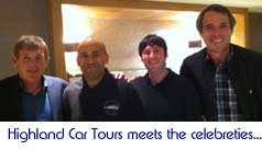 Highland Car Tours meets the celebreties