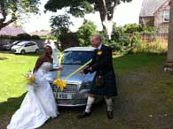 Weddding Cars Inverness, Nairn and Highlands from Highland Car Tours